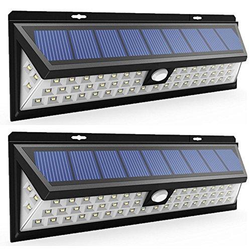 GUORZOM Outdoor Solar Light 54 LED, Ultra High Brightness Weitwinkel Solar Licht, Wireless Security Waterproof Flur Wandleuchte,2Pcs