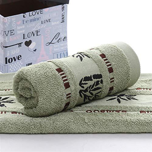PrittUHU Boutique Bamboo Fibra Toallas Set Home Daily Adultos Toallas Toallas Toallas Espeseñan Toallas de baño absorbentes (Color : Green, Size : 1 pcs 70x140cm)