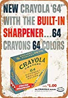 Crayons 金属板ブリキ看板警告サイン注意サイン表示パネル情報サイン金属安全サイン