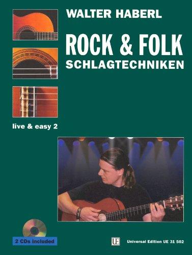 Schlagtechniken 2 - Rock, Folk & Traditionals mit 2 CDs, für Gitarre