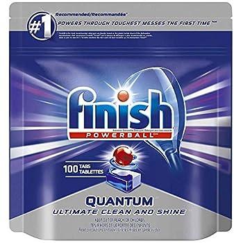 Finish Quantum Powerballs Dishwashing Detergent Tabs 3.52 Lb 100 Tabs