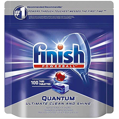 Finish Quantum Powerballs Dishwashing Detergent Tabs 3.52 Lb, 100 Tabs