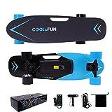 Cool&Fun 電動スケートボード スケボー キックボード リモコン付き 最大時速15km/h 全て4色 (青)