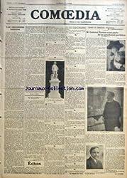 COMOEDIA [No 969] du 26/05/1910 - LES CHEVELURES EPLOREES PAR GEORGES LECOMTE - ET CORNEILLE ? PAR G. DE PAWLOWSKI - AVANT LE PROCHAIN SPECTACLE DE L\'OPERA-COMIQUE-M. GABRIEL PIERNE NOUS PARLE DE SA PROCHAINE PARTITION PAR HENRY MALHEREN.