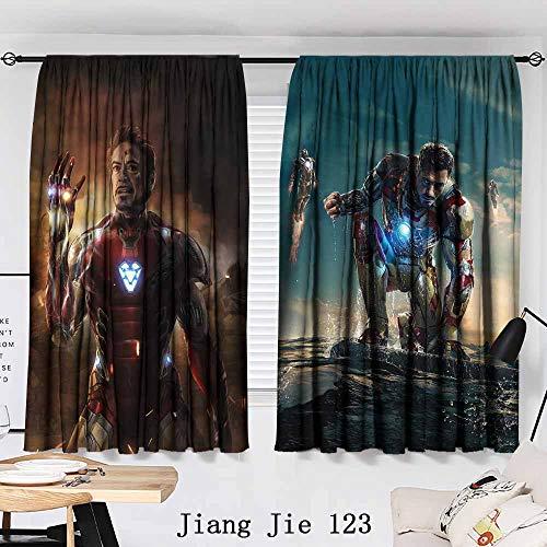 Cowspring i am Iron Man Infinity Stones Avengers Endgame Movie Living Room Bedroom Window Drapes 2 Panel Set