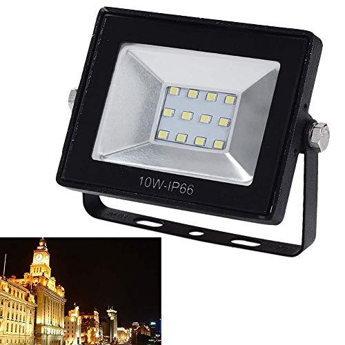 Profesional Foco, Seguridad Luces con Sensor de Movimiento - Impermeable IP65 LED Sensor Luz para Exteriores para el Jardín, Car Park, Hotel y Forecourt (10W, Luz Blanca)