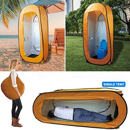 Pop-up Shower Tent,Upgraded Vertical Horizontal Instant Portable Outdoor Dressing &Sleeping Tent,Pop Up Pod Changing Room Privacy Tent for Camping & Beach,Easy Set Up,Foldable with Carry Bag