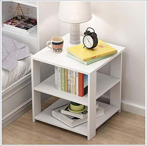 Rzj-njw Multi-Layer Storage Side Table Bedside Table Dormitory Bedroom Living Room Simple Rack,White