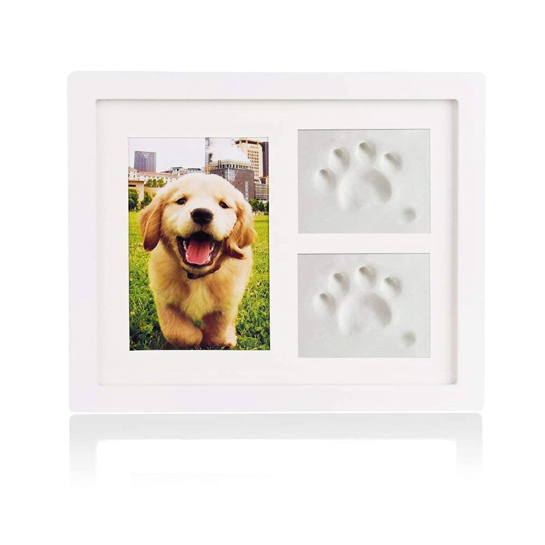 犬 猫 額縁 フォトフレーム 写真立て フォトスタンド 誕生日 プレゼント 母の日 敬老(ホワイト)