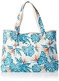 Roxy All Things Printed Tote Bag, Bolsas de mensajero para Mujer, Blanco brillante Midnight Paraíso, 1SZ