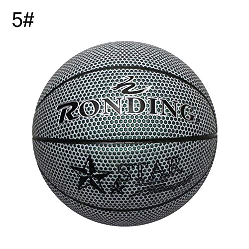 Best Prices! Cheng-store Holographic Glowing Reflective Basketball Set, Light Up Camera Flash Glow I...