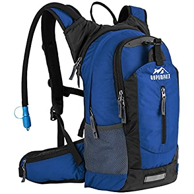 Insulated Hydration Backpack Pack with 2.5L BPA FREE Bladder - Keeps Liquid Cool up to 4 Hours, Lightweight Daypack Water Backpack For Hiking Running Cycling Camping, 18L (Pure Blue)