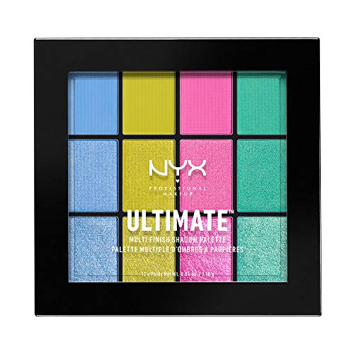 NYX Professional Makeup Ultimate Multi-Finish Shadow Palette, Lidschatten-Palette, Electric 05