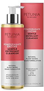 Pomegranate Gentle Exfoliant Cleanser Fragrance Free – Anti Aging Deep Cleansing Gel Face Wash for Sensitive Skin, Clears ...