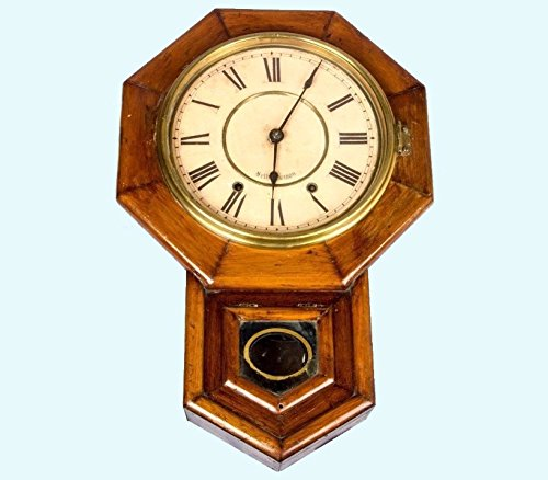 Antiques World Vintage Handcrafted Wooden Art Collectible Wall Décor Pendulum Clock AWUSAHB...