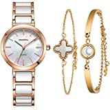 MAMONA Women's Watch and Bracelet Gift Set Rose...