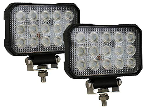 5.9 Inch x 4.8 Inch Rectangular L.E.D. Clear Flood Lights (1492190-PR) - Pair