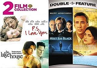 Fantasy Romance and Time Traveling Love Stories: P.S. I Love You/ The Lake House & Meet Joe Black/ Captain Corelli's Mandolin (4 Feature Films DVD Bundle)