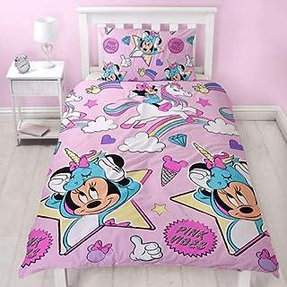 Juego de funda nórdica y funda de almohada de Minnie Mouse y unicornios