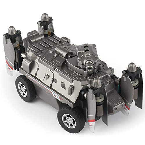lzndeal RC Car 2 en 1 FPV Drone Car Tank Plane Quadcopter sin cámara regalo para niños