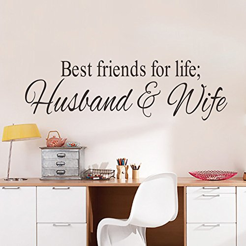 FANGLEE Best Friends for Life Husband and Wife Quotes Vinyl Wall Decal