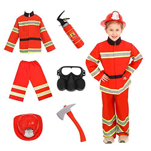 Kids Fireman Costume Role Play Set Children Halloween Firefighter Dress up