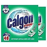 CALGON - Lote de 2 cajas de 48 pastillas Anticalcáreas Hygiene Plus para Lavadora