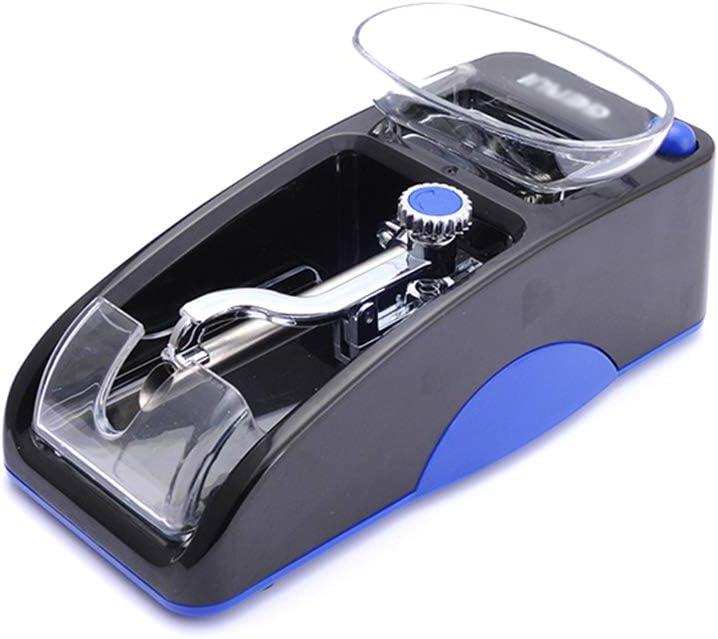 WWZL Máquina enrolladora de Cigarrillos eléctrica Mini máquina automática para Hacer Cigarrillos en el hogar Extractor de Humo de Metal Regalos para Hombres en el día del Padre,Azul