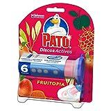 PATO Discos Activos WC, Limpia y Desinfecta, Fruitopia, Contiene 1 Aplicador + 1 Recambio