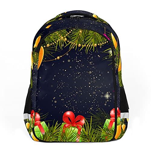 Linterna de regalo de Navidad con diseño de hojas de Navidad, ideal para mochilas escolares y de viaje, mochilas de estudiantes perfectas para todas las edades