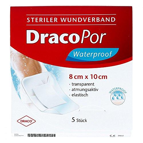 DRACOPOR waterproof Wundverband 8x10 cm steril 5 St