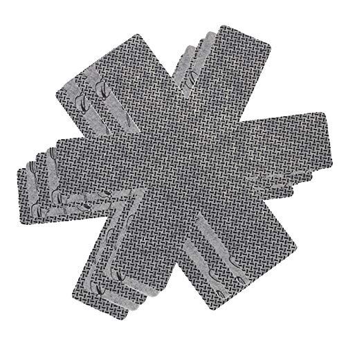 Magic Show Pfannenschutz Vorteilspaket Filz - 5 Stück - 38 cm - Grau - XL Pfannenschutz - Stapelschutz für Perfekten Pfannen Schutz