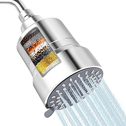 High Pressure Shower Head Filter FEELSO 2 IN 1 15 Stages High Output Showerhead with Filter product image