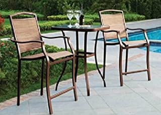 Premium Outdoor Bistro Sets Patio Furniture Set Table 3 Piece Bar Height Seating