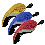 Andux 3 Pack Golf Hybrid Club Head Covers Interchangeable No. Tag MT/HY09 Red,Yellow