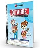 Die neue kompakte kindgerechte Gitarrenschule mit Kinderliedern, aktuellen Songs und Lernvideos zu jeder Übung, mit praktischer Spiralbindung, inkl. QR-Codes für Lernvideos
