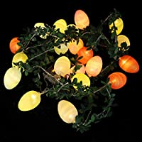 Beaupretty イースター卵ストリングライトミニ卵飾りハンギング妖精ライト20 Ledイースターホリデー結婚式誕生日祭の装飾 (バッテリなし)