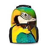Coloranimal 3D Animal Parrot Pattern Kids Backpacks for School Girls Book Bags