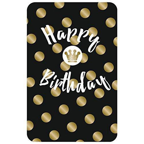 Susy Card Algemene ansichtkaart, met tekst, afmetingen: 17 x 11 x 0, 1 cm Happy Birthday - kroon