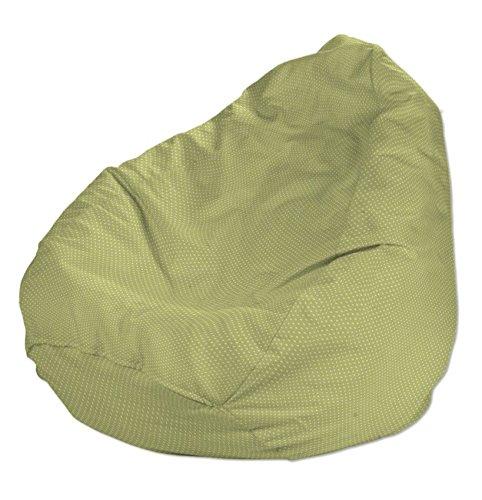 Dekoria Poltrona a sacco Ø60 x 105 cm verde-crema