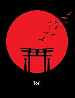Torii: Japanese Torii Bridge Journal for Students language of Japan Asian culture Art Religion Traditional Shinto temples & Cuisine | half page lined ... thoughts ideas great gift stocking stuffer
