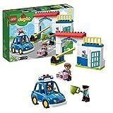 LEGO Duplo Town Stazione di Polizia, Luce e Suono, Auto della Polizia, Cella e 2 Figure di Poliziotti, Giocattoli per Bambini, 10902