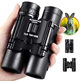 10x25 Binoculars for Kids Adult, Small Compact Lightweight Folding Mini Pocket Binoculars for Bird Watching Travel Stargazing Hunting Camping Concerts Sports Theater Opera
