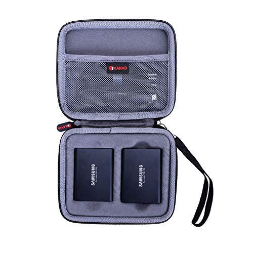 XANAD Hart Reise Tragen 2 in 1 Etui Tasche für Samsung Portable SSD T3 or T5 250 GB 500 GB 1 TB 2 TB Externe Solid State-Laufwerke - Schutz Hülle