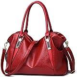 Bolso de cuero del diseñador de las mujeres bolsos de las señoras de las mujeres de calidad Colo sólida oficina del bolso de totalizadores,rojo