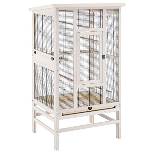 Gut ausgestattete, hochwertige Vogelvoliere, ideal für Wellensittiche, Kanarienvögel und andere kleine Vögel geeignet, inklusive Zubehör