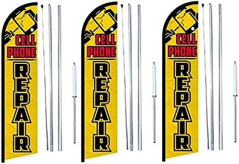 Cell Phone Repair Windless banner Flag With 3 67% OFF of fixed price 25% OFF pack Complete of H