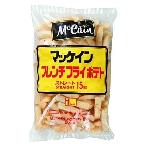 マッケイン 15mmストレートカットポテト 1�s【冷凍】