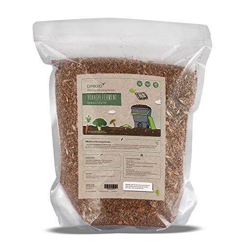 Bokashi Ferment - Bio Qualität 2,5 Kg - DIMIKRO® Fermentationshilfe für Bokashi Eimer und Kompost - Eliminiert Gerüche, Schimmel & Fäulnis - 100% Vegan & natürlich mit Effektiven Mikroorganismen