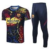 Uniforme de Entrenamiento de fútbol Club Uniformes de fútbol Camisetas y Pantalones de Manga Corta Transpirables y de Secado rápido-Photo_Color_L